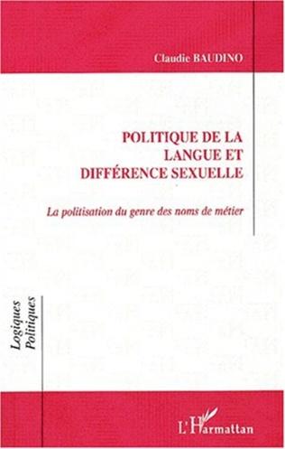 Couverture POLITIQUE DE LA LANGUE ET DIFFÉRENCE SEXUELLE