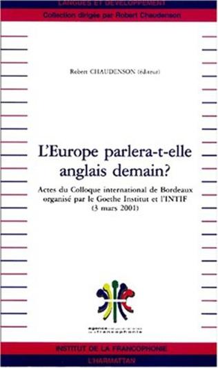 Couverture L'EUROPE PARLERA-T-ELLE ANGLAIS DEMAIN ?