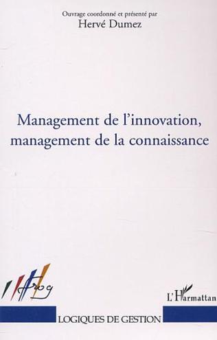 Couverture MANAGEMENT DE L'INNOVATION, MANAGEMENT DE LA CONNAISSANCE