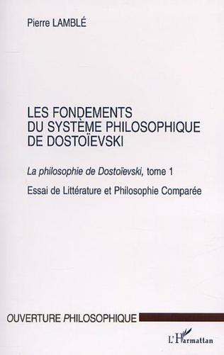 Couverture LES FONDEMENTS DU SYSTÈME PHILOSOPHIQUE DE DOSTOÏEVSKI