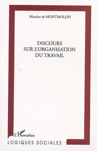 Couverture DISCOURS SUR L'ORGANISATION DU TRAVAIL