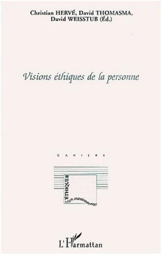 Couverture VISIONS ÉTHIQUES DE LA PERSONNE
