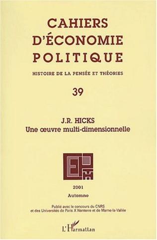 Couverture J.R. HICKS : une œuvre multi-dimensionnelle