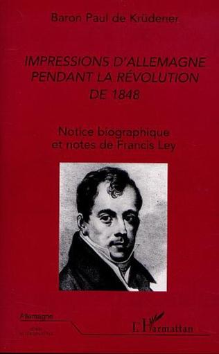 Couverture IMPRESSIONS D'ALLEMAGNE PENDANT LA RÉVOLUTION DE 1848