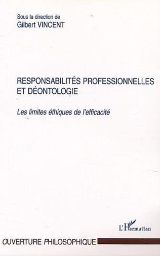 Couverture RESPONSABILITÉS PROFESSIONNELLES ET DÉONTOLOGIE