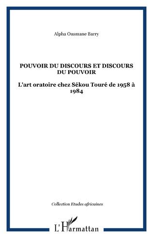 Couverture POUVOIR DU DISCOURS ET DISCOURS DU POUVOIR