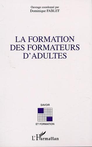 Couverture LA FORMATION DES FORMATEURS D'ADULTES