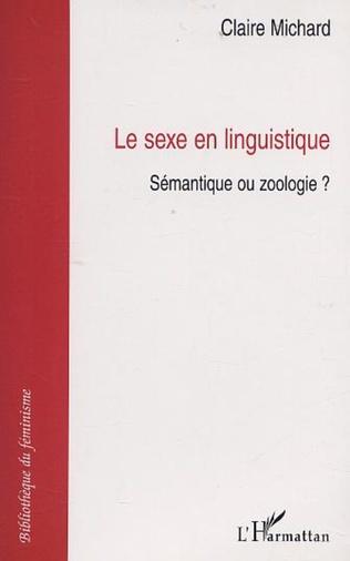 Couverture SEXE EN LINGUISTIQUE