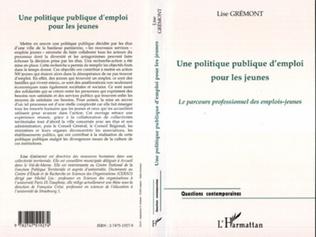 Couverture UNE POLITIQUE PUBLIQUE D'EMPLOI POUR LES JEUNES