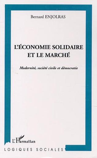 Couverture L'ÉCONOMIE SOLIDAIRE FACE AU MARCHÉ