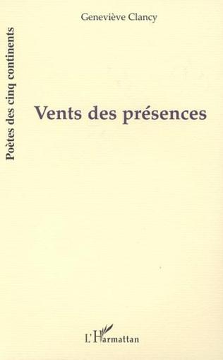 Couverture VENTS DES PRÉSENCES