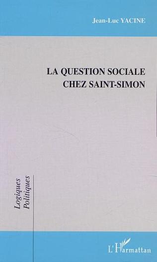 Couverture LA QUESTION SOCIALE CHEZ SAINT-SIMON