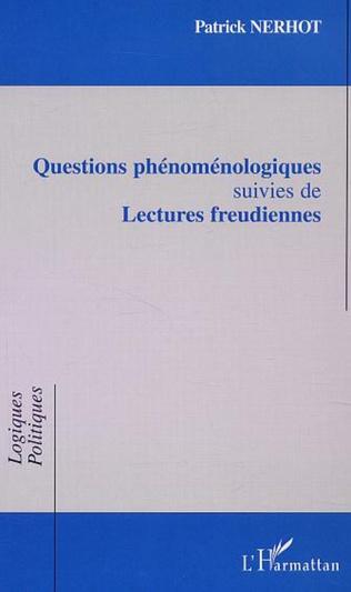Couverture QUESTIONS PHÉNOMÉNOLOGIQUES