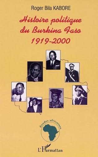Couverture HISTOIRE POLITIQUE DU BURKINA FASO 1919-2000