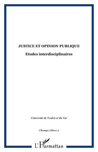 Couverture JUSTICE ET OPINION PUBLIQUE