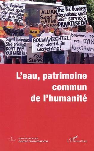 Couverture L'EAU, PATRIMOINE COMMUN DE L'HUMANITÉ