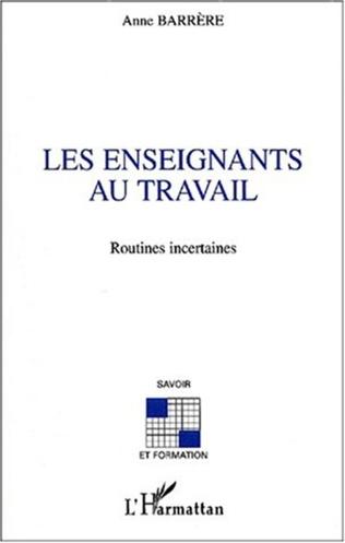 Couverture LES ENSEIGNANTS AU TRAVAIL