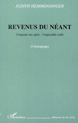 Couverture REVENUS DU NÉANT