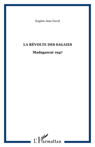 Couverture LA RÉVOLTE DES SAGAIES