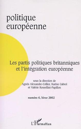 Couverture Les partis politiques britanniques et l'intégration européenne