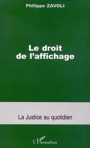 Couverture LE DROIT DE L'AFFICHAGE