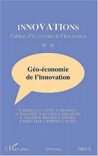 Couverture GÉO-ÉCONOMIE DE L'INNOVATION