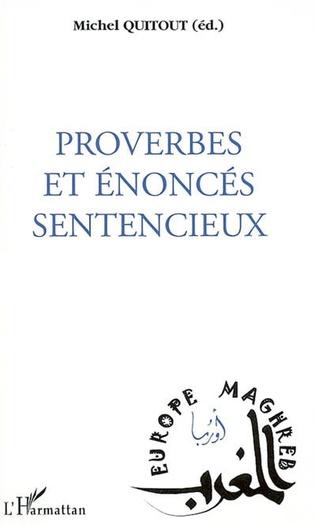 Couverture Proverbes et énoncés sentencieux