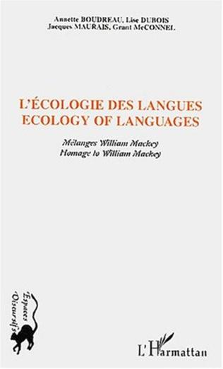 Couverture ECOLOGIE DES LANGUES - ECOLOGY OF LANGUAGES