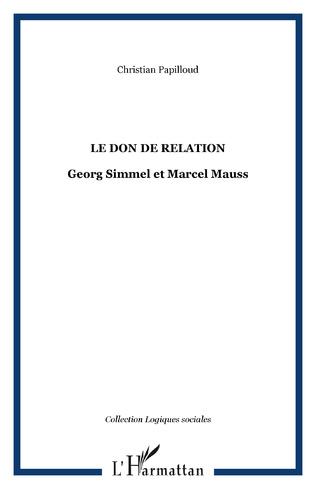 Couverture LE DON DE RELATION