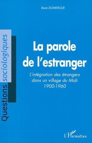 Couverture LA PAROLE DE L'ESTRANGER