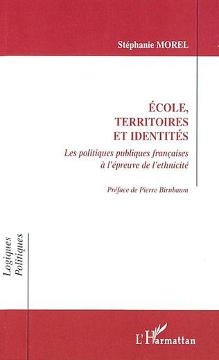 Couverture ÉCOLE TERRITOIRES ET IDENTITÉS