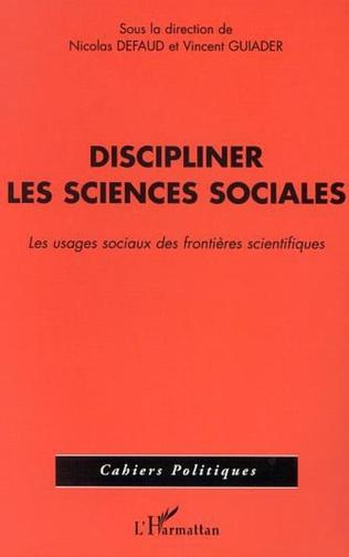 Couverture DISCIPLINER LES SCIENCES SOCIALES