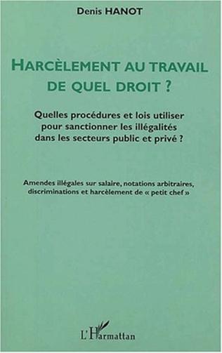 Couverture HARCÈLEMENT AU TRAVAIL DE QUEL DROIT ?