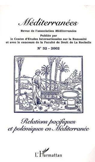 Couverture RELATIONS PACIFIQUES ET POLÉMIQUES EN MÉDITERRANÉE