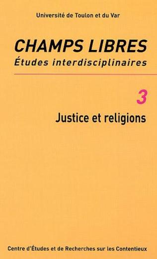Couverture JUSTICE ET RELIGIONS