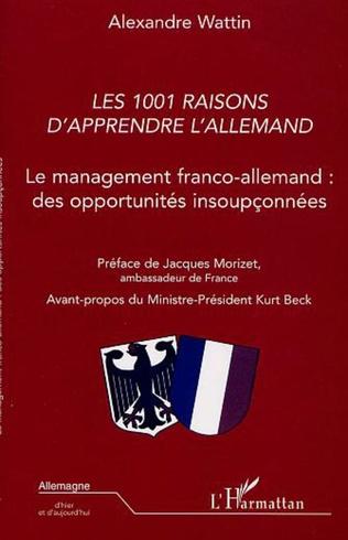 Couverture LES 1001 RAISONS D'APPRENDRE L'ALLEMAND