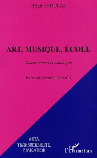 Couverture ART, MUSIQUE, ÉCOLE