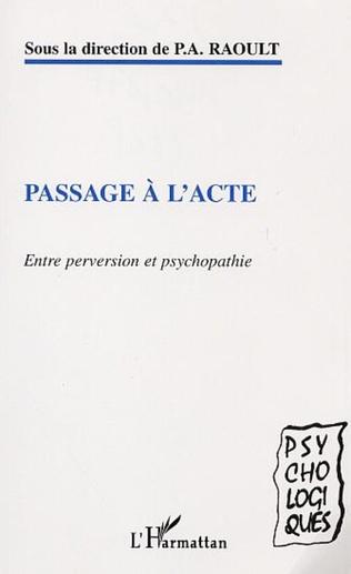 Couverture PASSAGE À L'ACTE