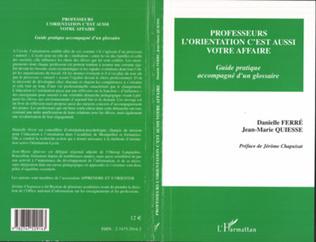 Couverture PROFESSEURS, L'ORIENTATION C'EST AUSSI VOTRE AFFAIRE