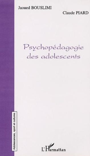 Couverture PSYCHOPÉDAGOGIE DES ADOLESCENTS