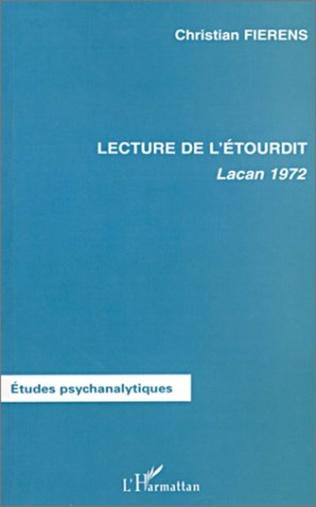 Couverture LECTURE DE L'ÉTOURDIT