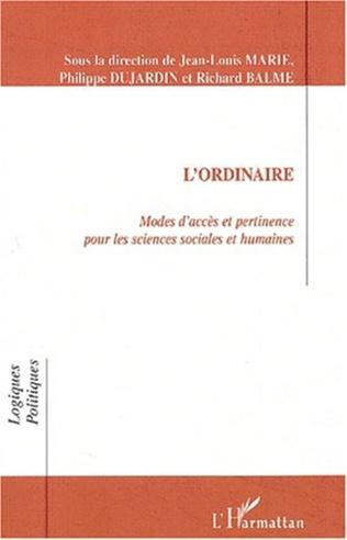 Couverture L'ORDINAIRE