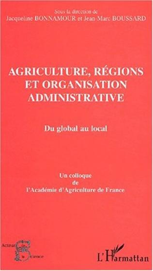 Couverture AGRICULTURE, RÉGIONS ET ORGANISATION ADMINISTRATIVE