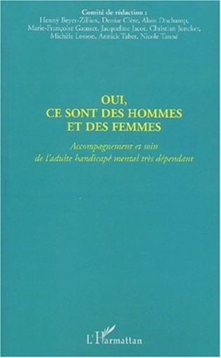 Couverture OUI, CE SONT DES HOMMES ET DES FEMMES