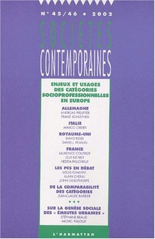 Couverture Enjeux et usages des catégories socioprofessionnelles en Europe
