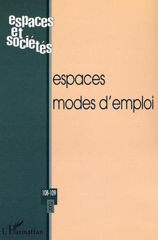 Couverture ESPACES MODES D'EMPLOI (n°108-109)