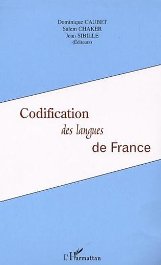 Couverture Codification des langues de France