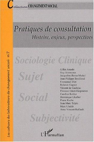 Couverture PRATIQUES DE CONSULTATION