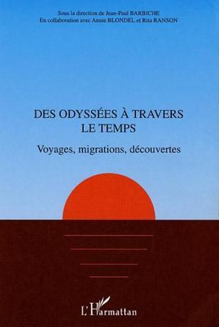 Couverture DES ODYSSÉES À TRAVERS LE TEMPS