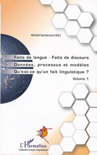 Couverture Faits de langue Faits de discours